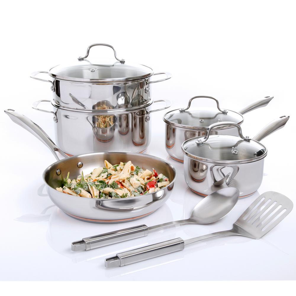 Oster Cuisine Kellerton 10-Piece Cookware Set with Lids 985105792M