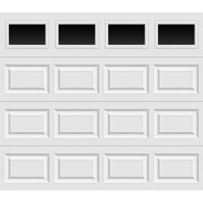 Premium Series Insulated Short Panel Garage Door with Short Windows