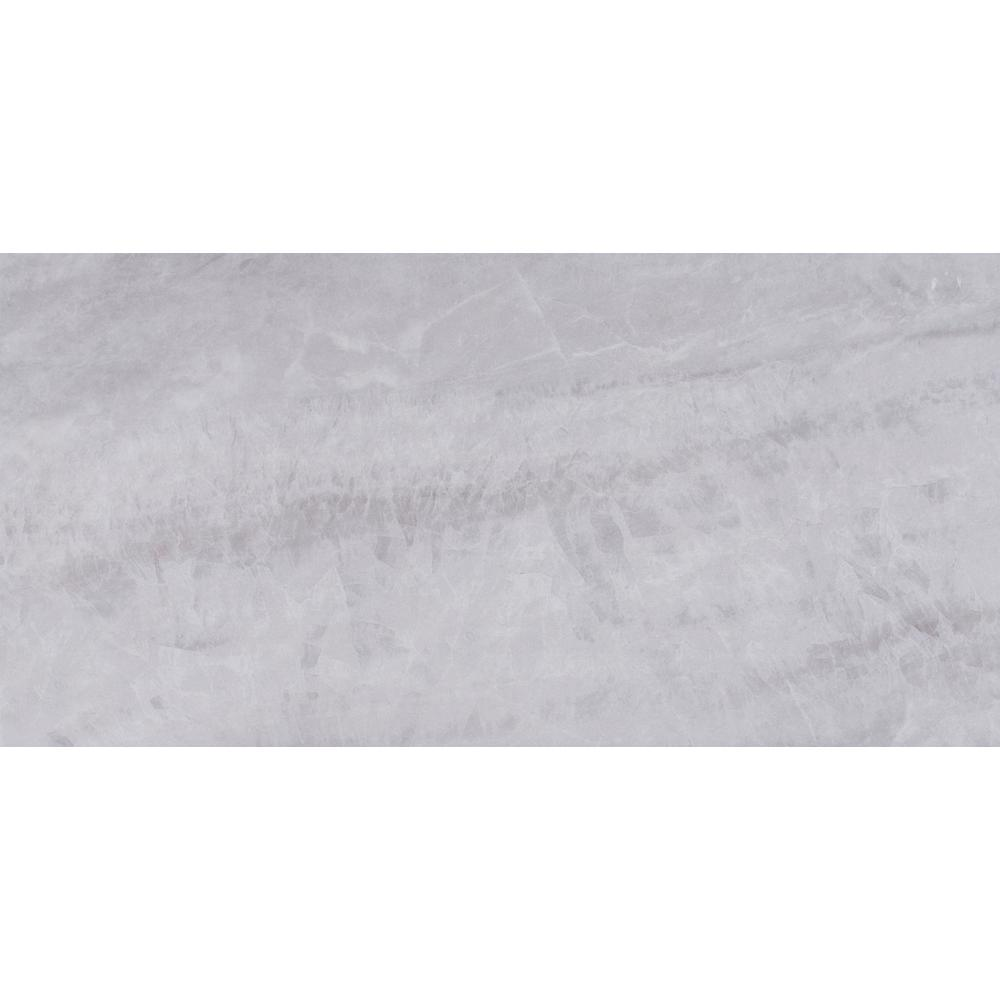 Atrium Kios Gris Glazed Porcelain Floor Tile: MSI Regale Gris 12 In. X 24 In. Glazed Porcelain Floor And