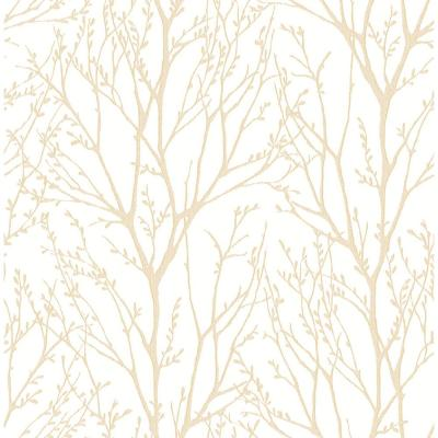 Autumn Gold Tree Paper Strippable Roll Wallpaper (Covers 56.4 sq. ft.)