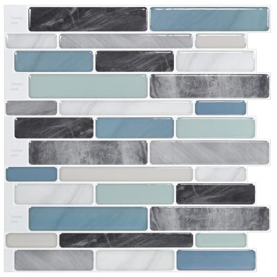 C-Stones Blue Sky 10.5 in. x 11.8 in.Vinyl Peel and Stick Wall Tile Backsplash (8.7 sq. ft./pack)