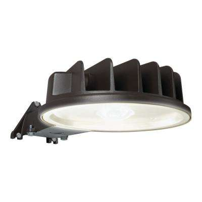 Bronze Outdoor Integrated Led Dusk To Dawn Area Light With Built In Photocell Sensor 5400 Lumen 5000k Color Temp