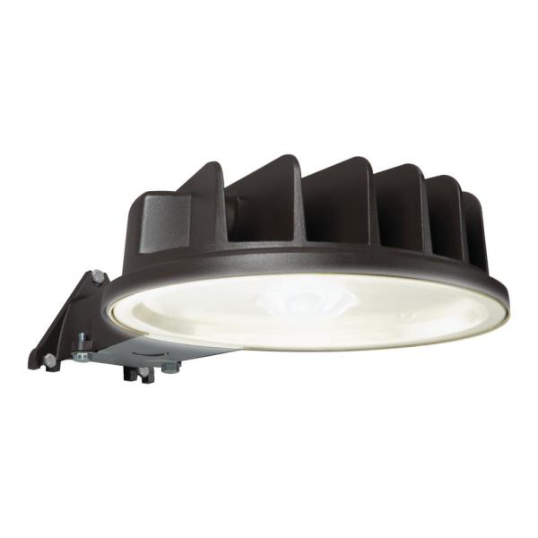 Bronze Outdoor Integrated LED Dusk to Dawn Area Light with Built-in Photocell Sensor, 5400 Lumen, 5000K Color Temp