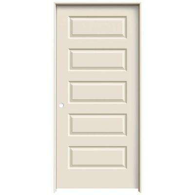 36 in. x 80 in. Rockport Primed Right-Hand Smooth Molded Composite MDF Single Prehung Interior Door