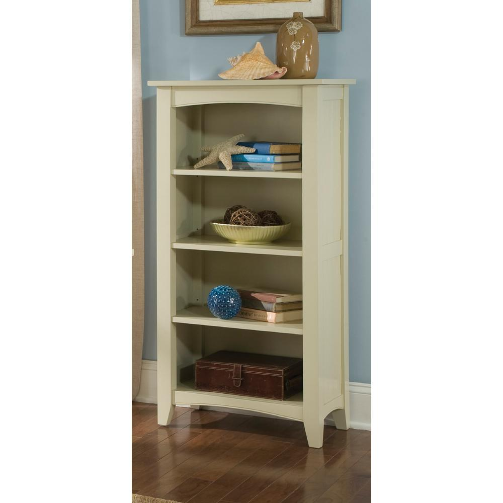 Alaterre Furniture Shaker Cottage Sand Open Bookcase