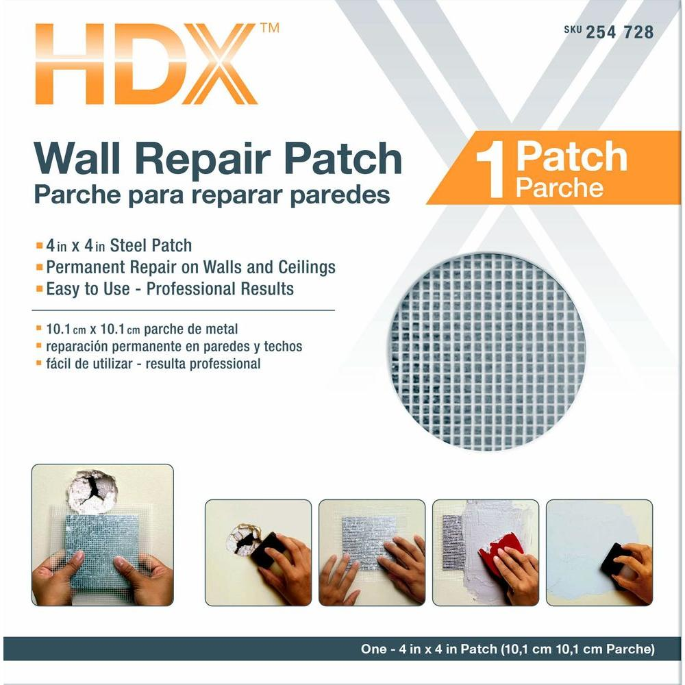HDX 4 in. x 4 in. Drywall Wall Repair Patch