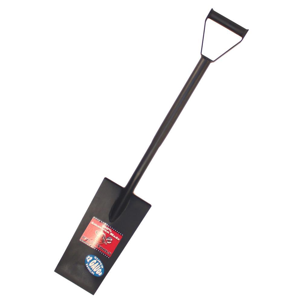 15 in. 12-Gauge Steel Spade with D-Grip Handle