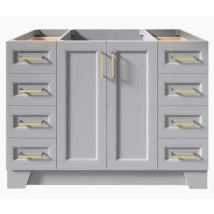 Taylor 48 in. W Vanity Cabinet Only in Grey
