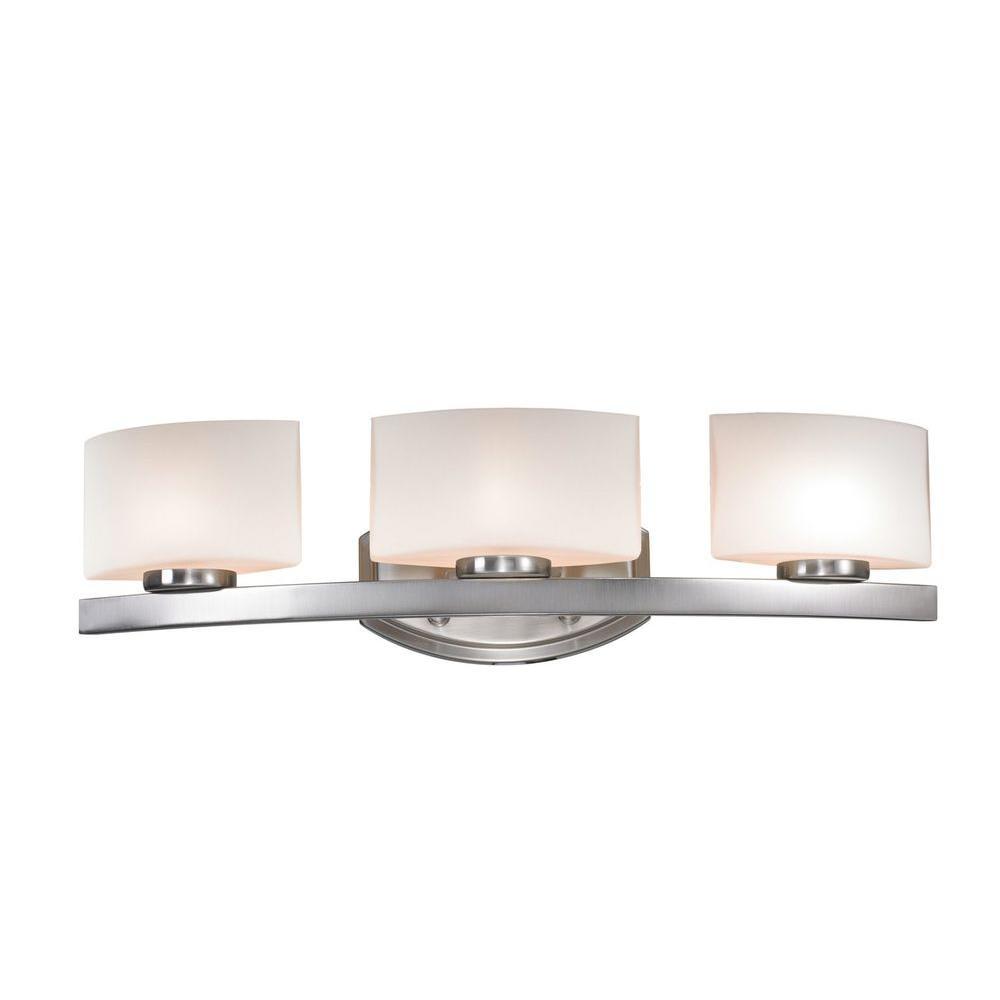 Filament Design Iulia 3 Light Brushed Nickel Halogen Bath Vanity Light Cli Jb3013 3v The Home