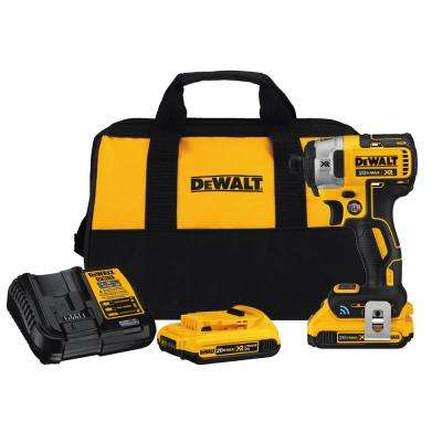 20-Volt MAX XR with Tool Connect Premium Brushless Li-Ion 1/4 in. Hex Impact Driver w/ 2 2Ah Batteries, Charger and Bag