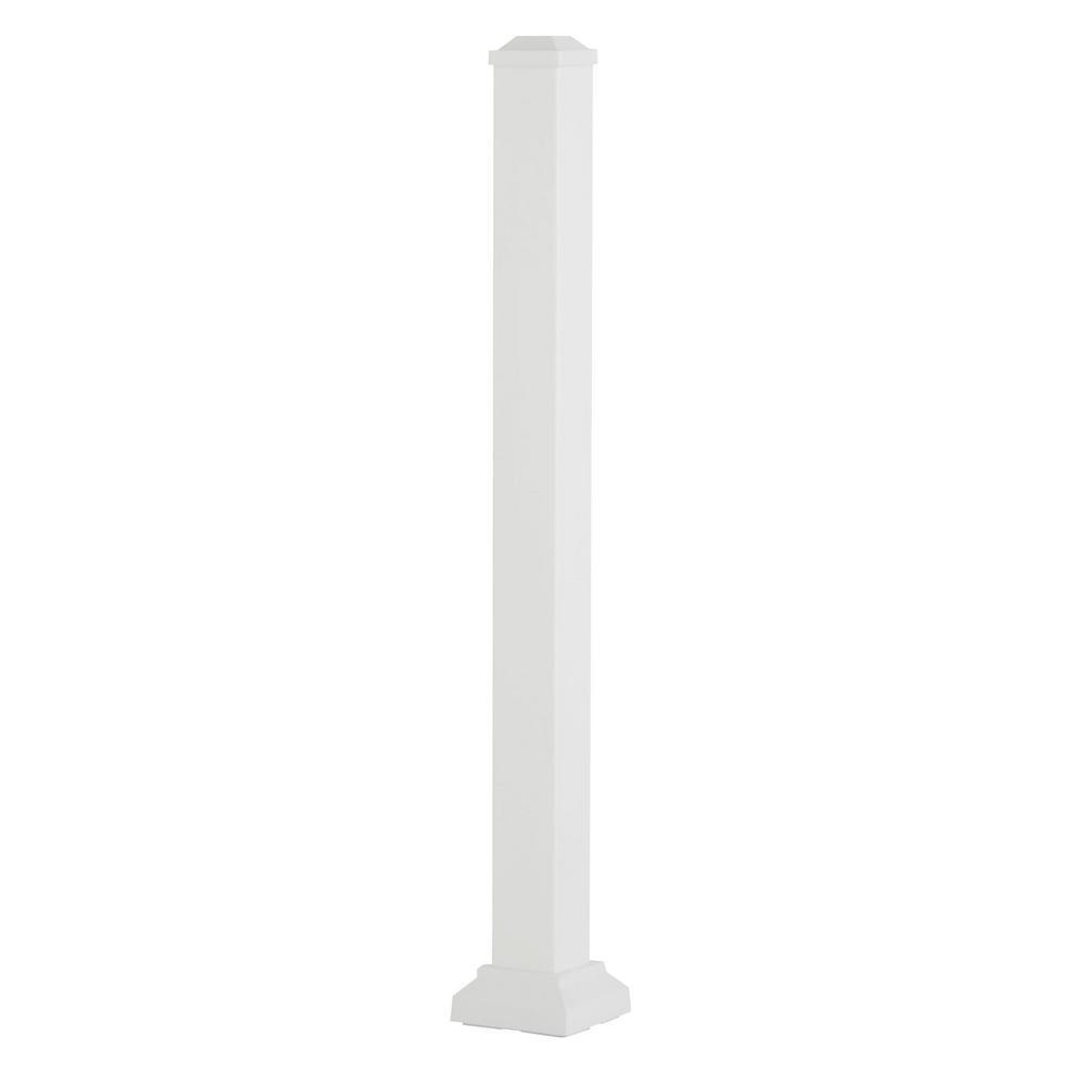 Aria Railing 3 in. x 3 in. x 42 in. White Powder Coated Aluminum Deck Post Kit