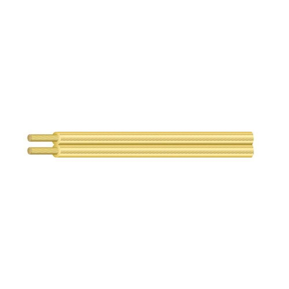 Southwire 100 ft. 18/2 Gold Stranded CU SPT-1 Lamp Wire