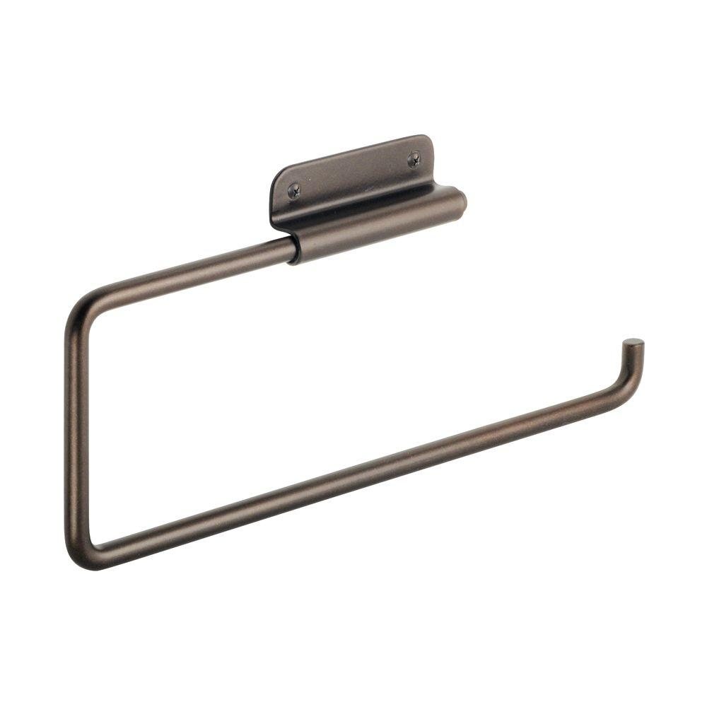 Interdesign Swivel Wall Mount Paper Towel Holder In Bronze 33231