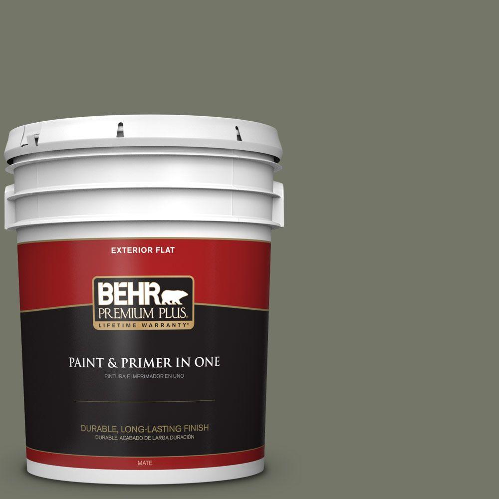 BEHR Premium Plus 5-gal. #HDC-AC-20 Halls of Ivy Flat Exterior Paint