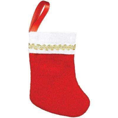 3 in. x 2 in. Felt Christmas Stockings (10-Count, 3-Pack)
