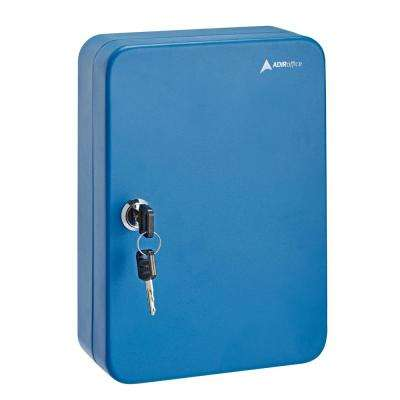 48-Key Steel Cabinet with Key Lock, Blue