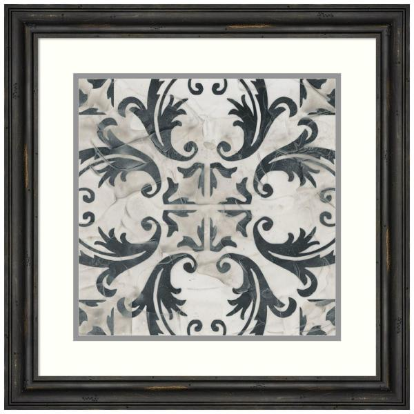 Neutral Tile Collection I by June Erica Vess Framed Print Wall Art