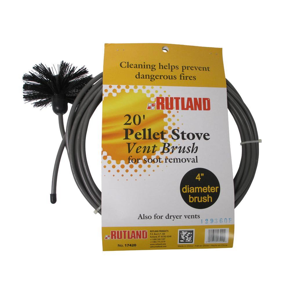 4 in. Pellet Stove/Dryer Vent Brush