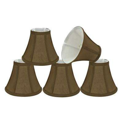 6 in. x 5 in. Light Brown Bell Lamp Shade (5-Pack)