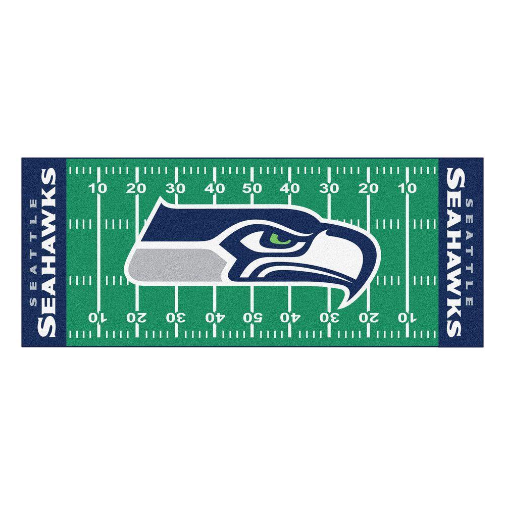 FANMATS Seattle Seahawks 3 Ft. X 6 Ft. Football Field