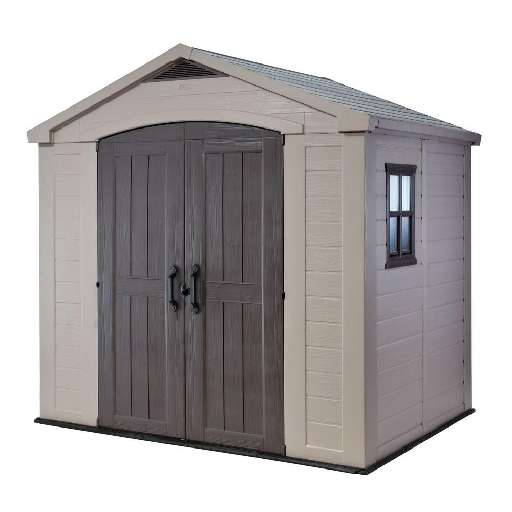 Outdoor Storage Shed  sc 1 st  The Home Depot & Keter Factor 8 ft. x 6 ft. Outdoor Storage Shed-213039 - The Home Depot