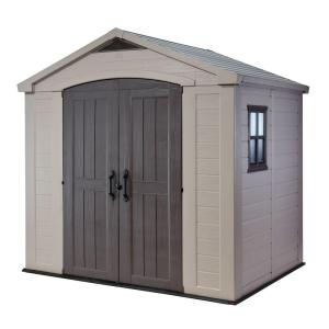 keter factor 8 ft x 6 ft outdoor storage shed 213039 the home depot