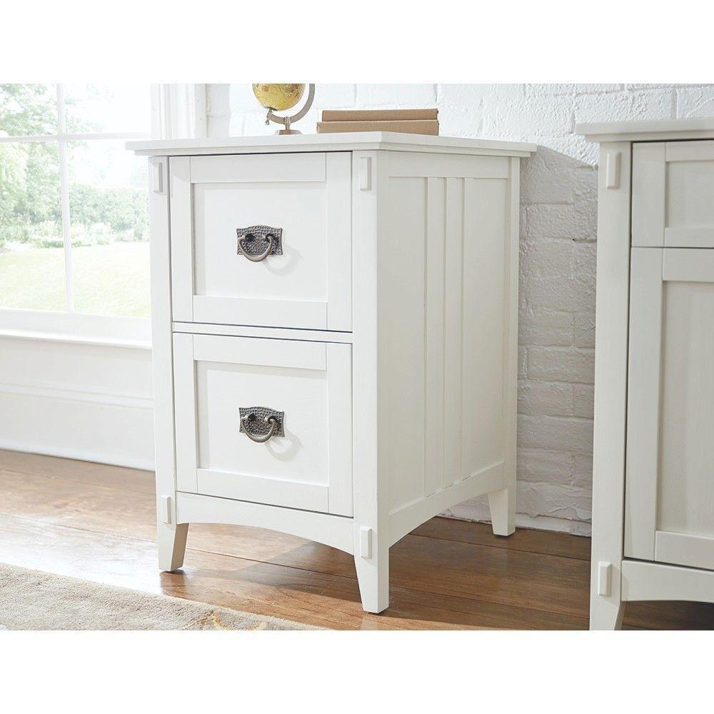 Captivating Artisan White File Cabinet