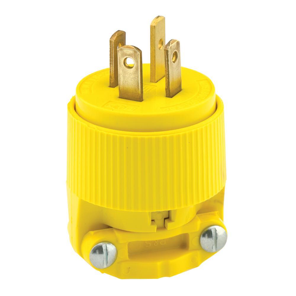 Leviton 30 Amp 120 208 Volt Industrial Grade 3 Phase Locking Non Wiring Plugs 20 Straight Blade Grounding Plug