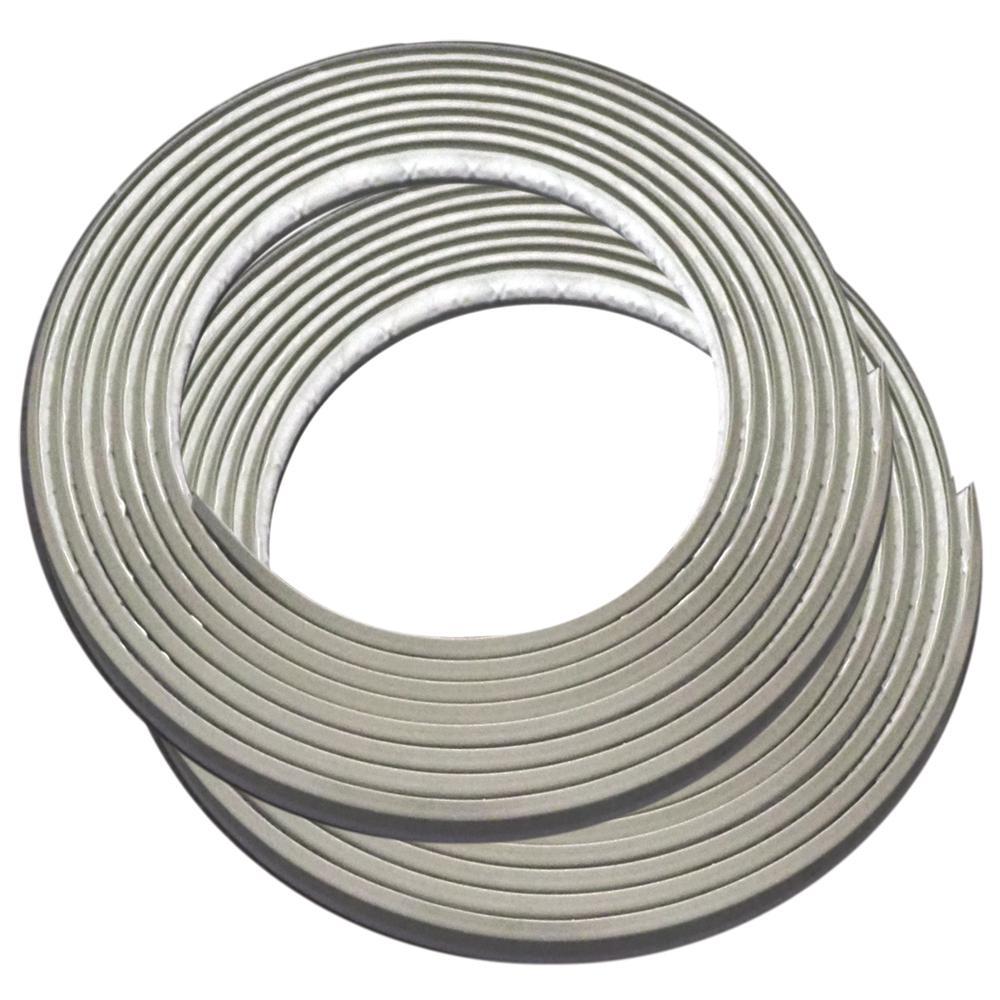 3/8 in. x 3/8 in. x 120 in. PVC Inside Corner Self-adhesive Flexible Trim Moulding 2-Pack)