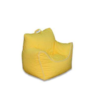 Yellow Poly Cotton Structured Bean Bag