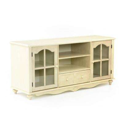 Coventry Antique White Storage Entertainment Center
