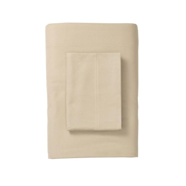 The Company Store Legacy Velvet Flannel Alabaster Solid Deep Pocket California King Fitted Sheet