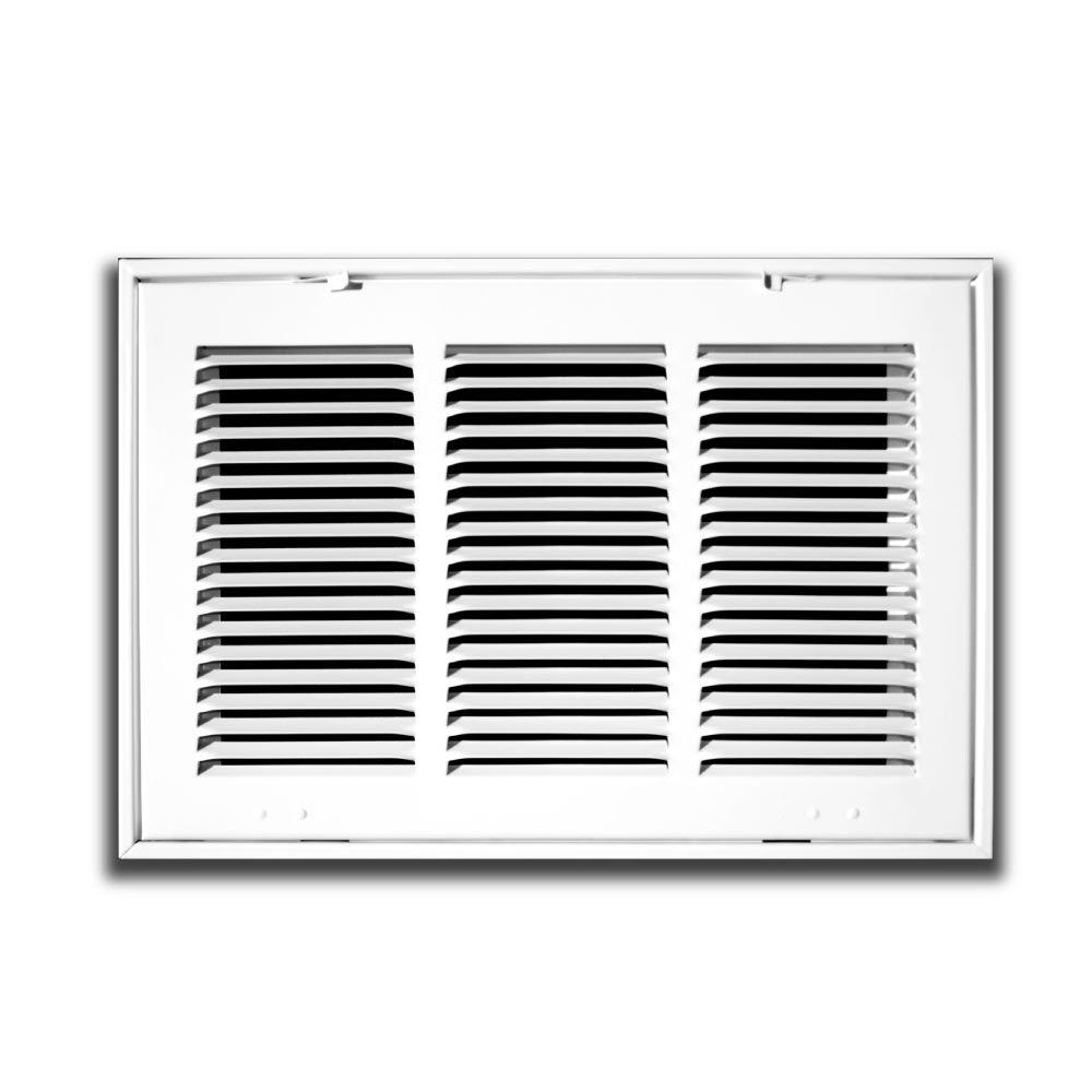 Truaire 24 In X 16 In White Return Air Filter Grille