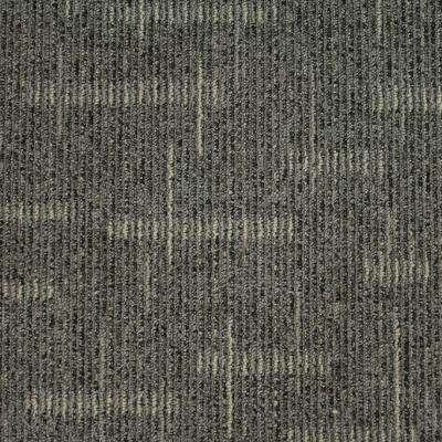 Simply Comfort Boardwalk Loop 19.7 in. x 19.7 in. Carpet Tile (20 Tiles
