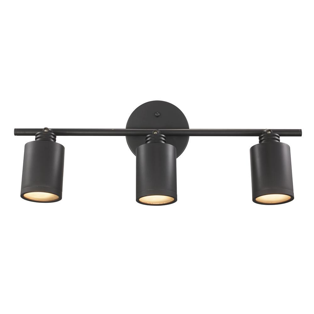 Holdrege 1.88 ft. Rubbed Oil Bronze 27-Watt Integrated LED Track Lighting Kit