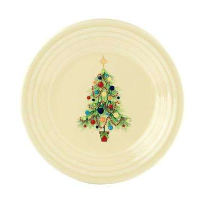 Ivory Christmas Tree Luncheon Plate
