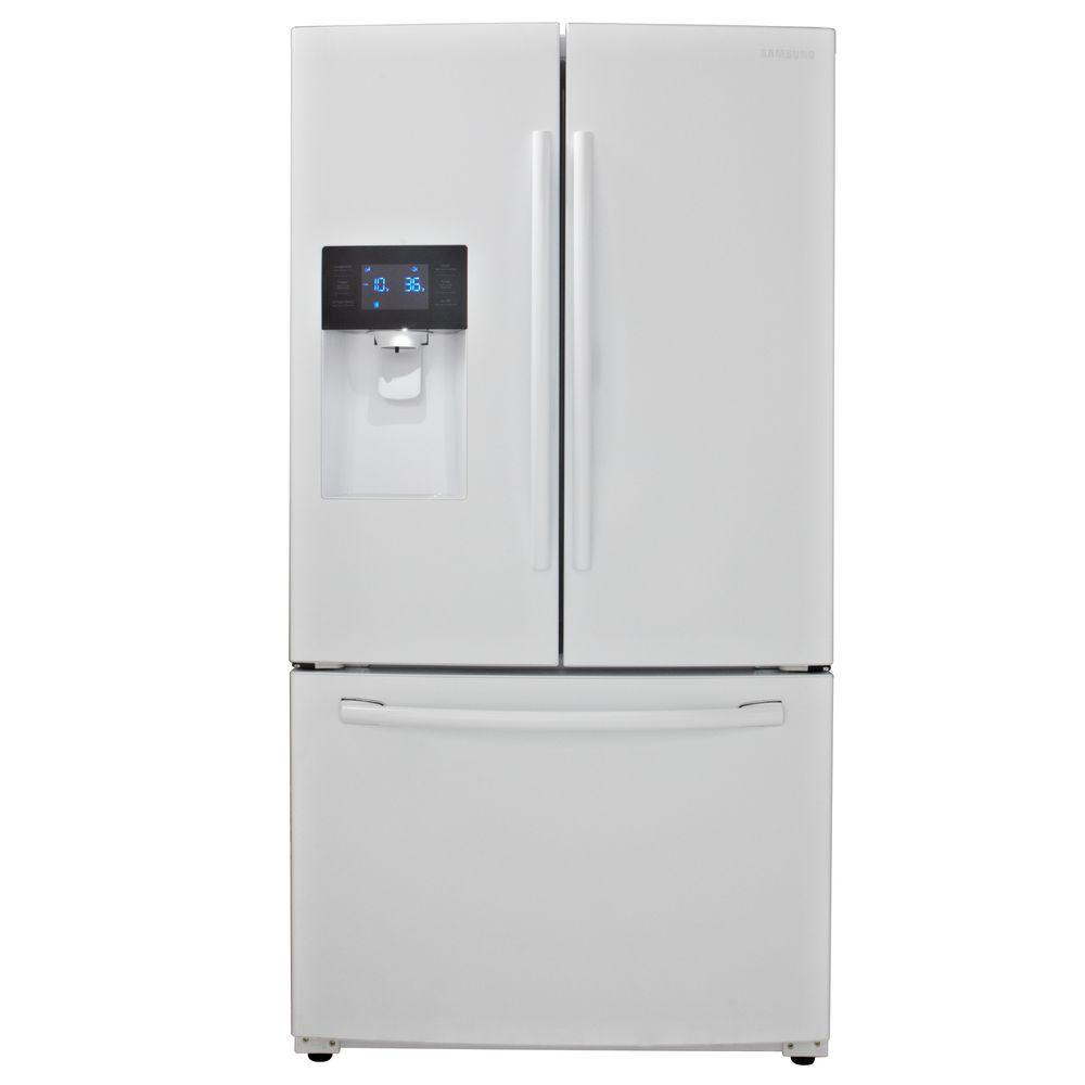 Samsung 246 cu ft french door refrigerator in white rf263beaeww samsung 246 cu ft french door refrigerator in white rubansaba