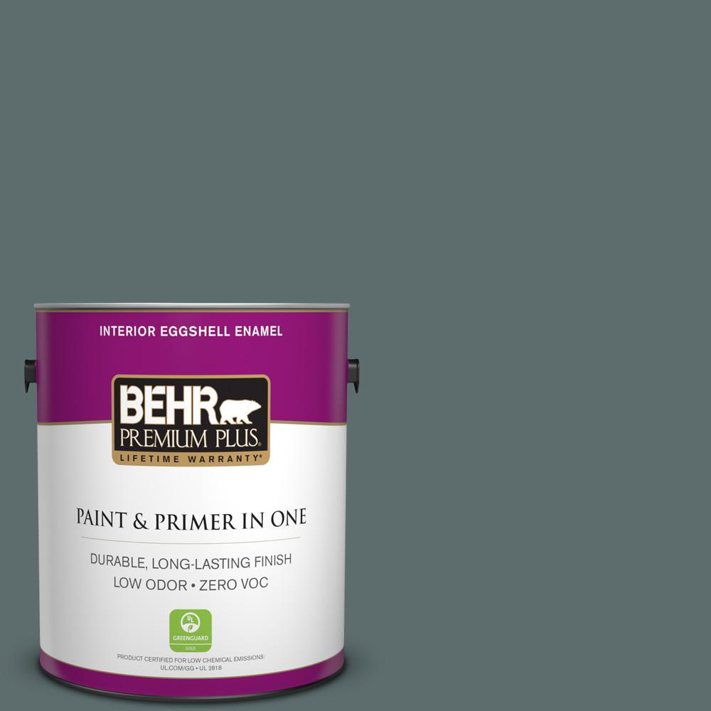 1 gal. #PPU12-19 Mountain Pine Zero VOC Eggshell Enamel Interior Paint