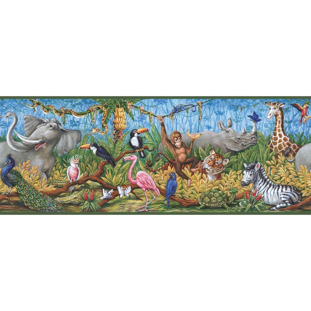 Nathaniel Green Swinging Jungle Wallpaper Border Sample