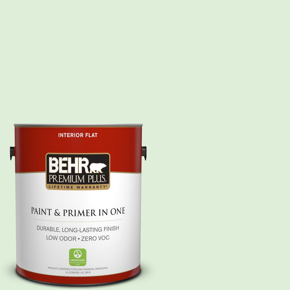 BEHR Premium Plus 1-gal. #440C-2 Cucumber Crush Zero VOC Flat Interior Paint