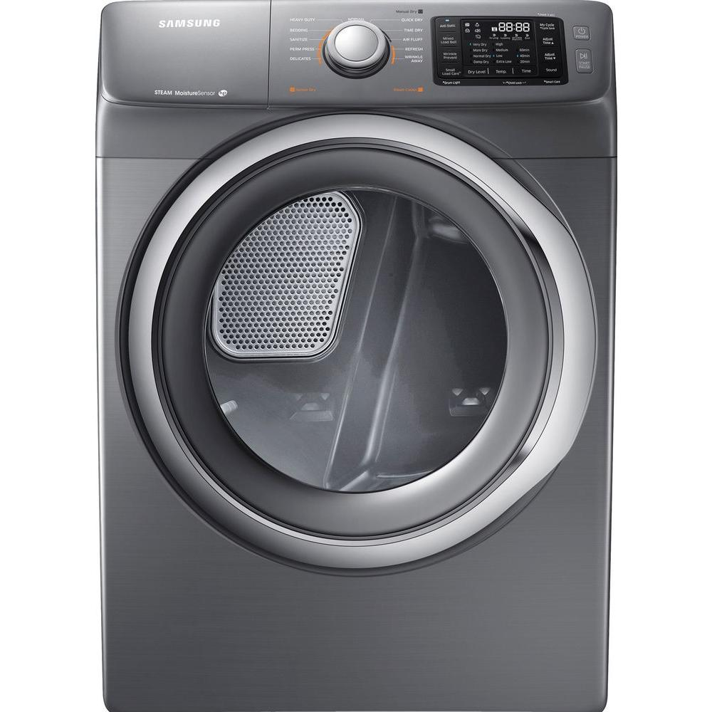 Samsung 7.5 cu. ft. Gas Dryer with Steam in Platinum