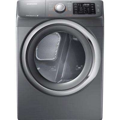 7.5 cu. ft. Gas Dryer with Steam in Platinum