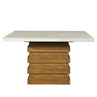Steve Silver Palmer White Marble Top Dining Table
