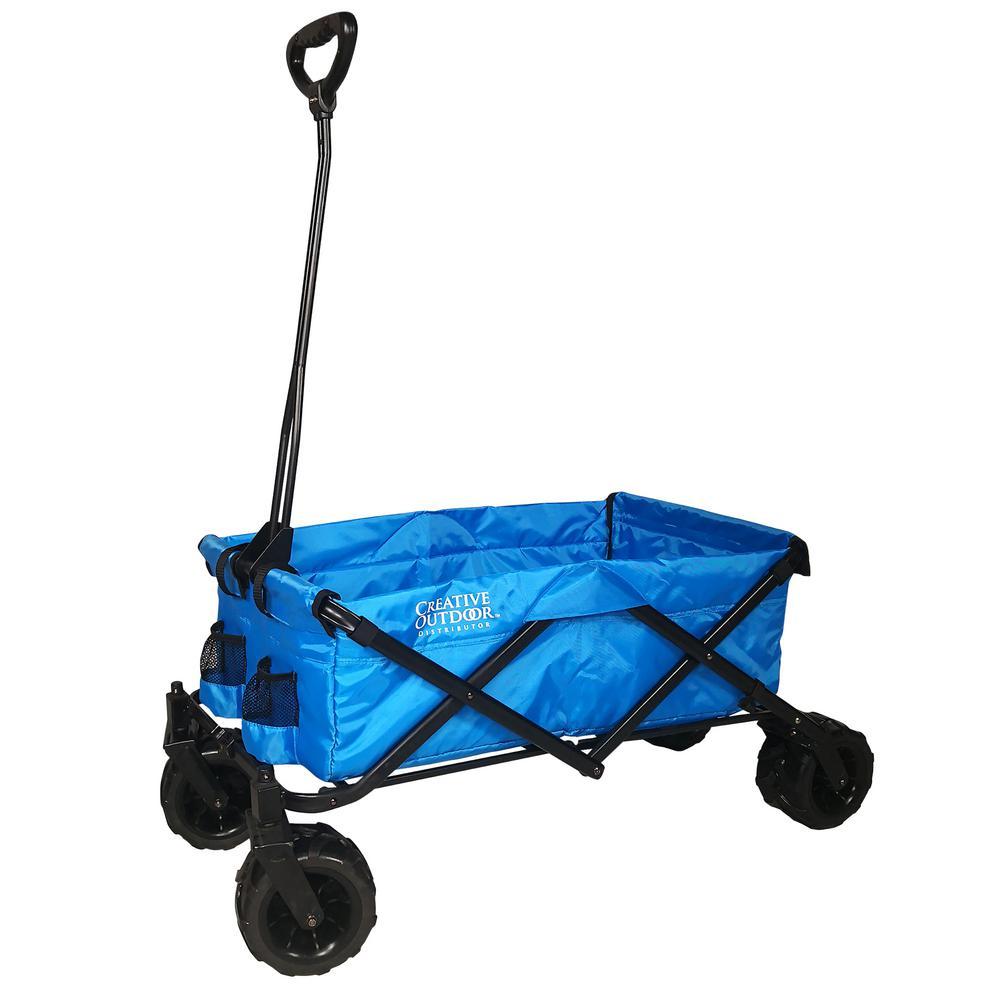 Creative Outdoor 7 cu. ft. Folding Garden Wagon in Cool Blue