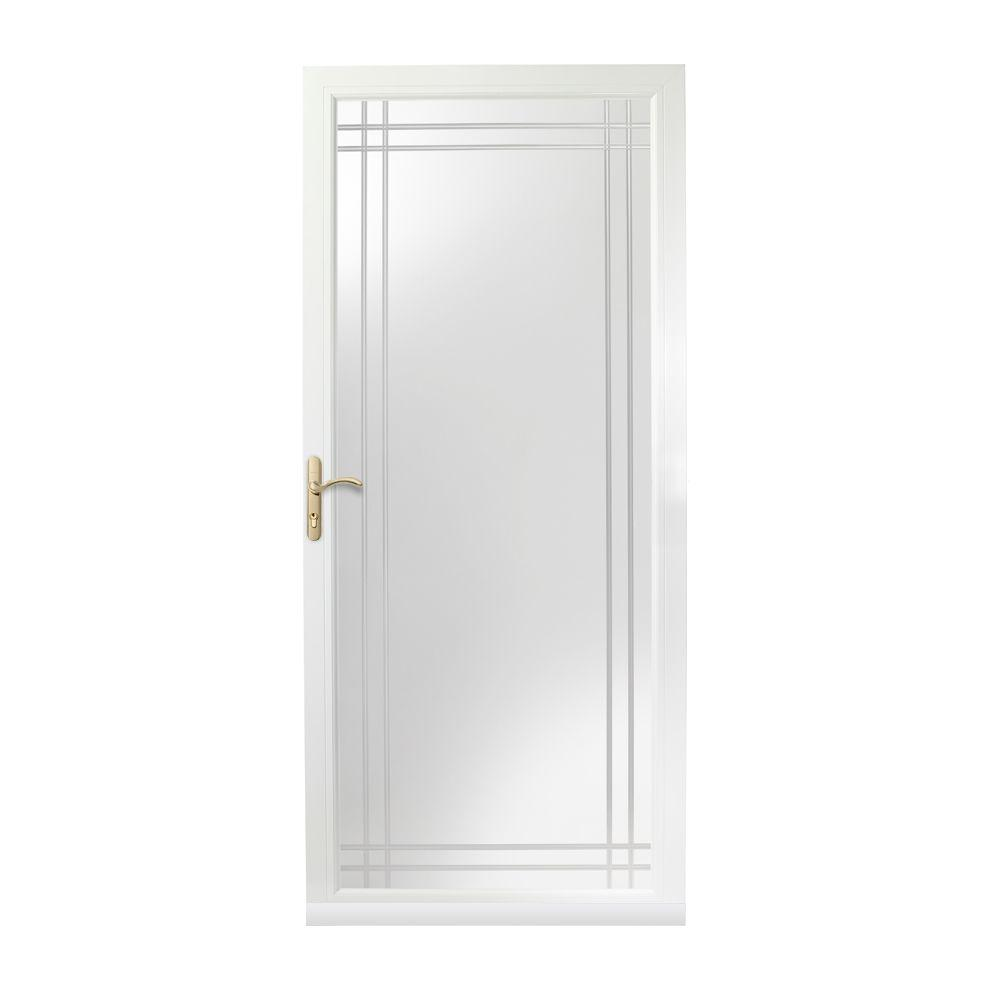 Andersen 36 in x 80 in 3000 series white left hand for Andersen doors