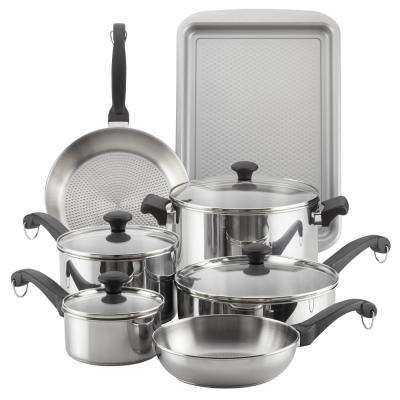 12-Piece Classic Traditions Stainless Steel Cookware Set