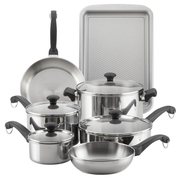 12-Piece Classic Traditions Stainless Steel Cookware Set 70217