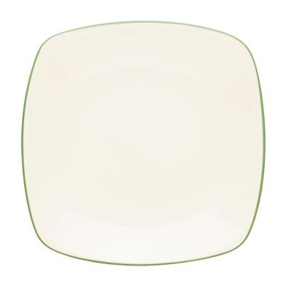 Colorwave 10.75 in. Apple Square Dinner Plate