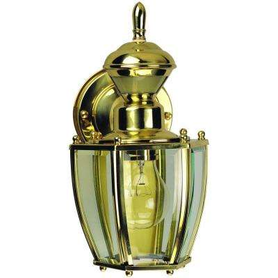 150 Degree Polished Brass Traditional Coach Lantern with Clear Beveled Glass