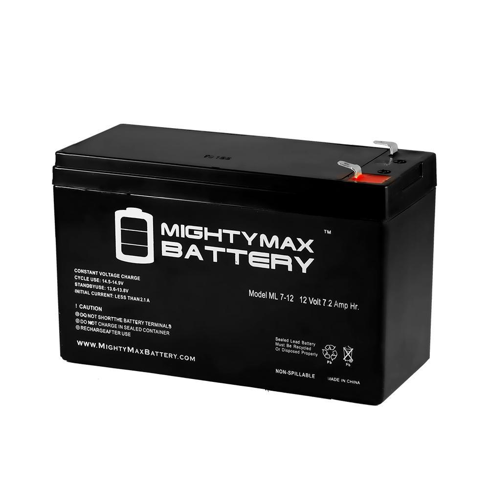 12-Volt 7 Ah Sealed Lead Acid (SLA) Rechargeable Battery